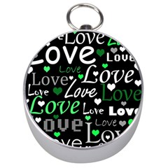 Green Valentine s day pattern Silver Compasses