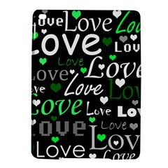 Green Valentine s day pattern iPad Air 2 Hardshell Cases