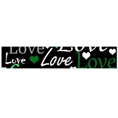 Green Valentine s day pattern Flano Scarf (Large)