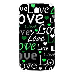 Green Valentine s day pattern Samsung Galaxy Mega I9200 Hardshell Back Case