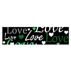 Green Valentine s day pattern Satin Scarf (Oblong)