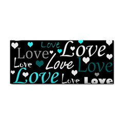 Valentine s day pattern - cyan Cosmetic Storage Cases