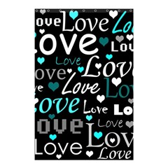 Valentine s day pattern - cyan Shower Curtain 48  x 72  (Small)