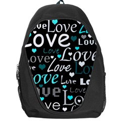 Valentine s day pattern - cyan Backpack Bag
