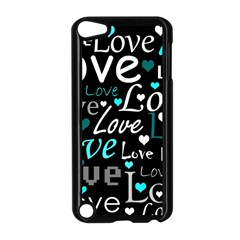Valentine s day pattern - cyan Apple iPod Touch 5 Case (Black)