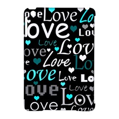Valentine s day pattern - cyan Apple iPad Mini Hardshell Case (Compatible with Smart Cover)