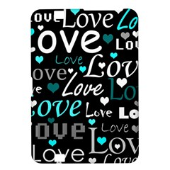 Valentine s day pattern - cyan Kindle Fire HD 8.9