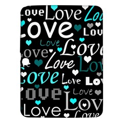 Valentine s day pattern - cyan Samsung Galaxy Tab 3 (10.1 ) P5200 Hardshell Case