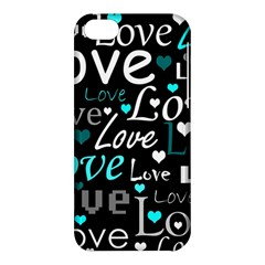 Valentine s day pattern - cyan Apple iPhone 5C Hardshell Case