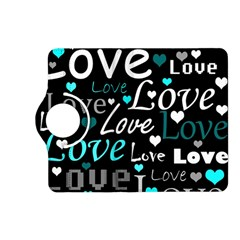 Valentine s day pattern - cyan Kindle Fire HD (2013) Flip 360 Case