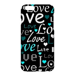 Valentine s day pattern - cyan Apple iPhone 6 Plus/6S Plus Hardshell Case