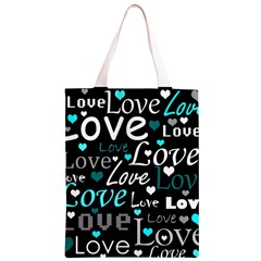 Valentine s day pattern - cyan Classic Light Tote Bag