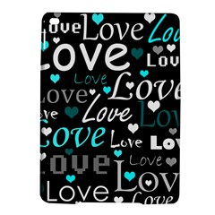 Valentine s day pattern - cyan iPad Air 2 Hardshell Cases
