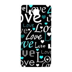 Valentine s day pattern - cyan Samsung Galaxy Alpha Hardshell Back Case