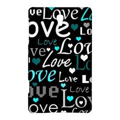 Valentine s day pattern - cyan Samsung Galaxy Tab S (8.4 ) Hardshell Case