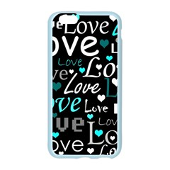 Valentine s day pattern - cyan Apple Seamless iPhone 6/6S Case (Color)