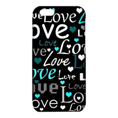Valentine s day pattern - cyan iPhone 6/6S TPU Case