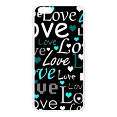 Valentine s day pattern - cyan Apple Seamless iPhone 6 Plus/6S Plus Case (Transparent)