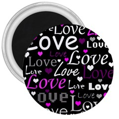 Valentine s day pattern - purple 3  Magnets