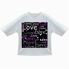 Valentine s day pattern - purple Infant/Toddler T-Shirts