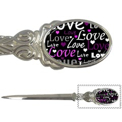Valentine s day pattern - purple Letter Openers