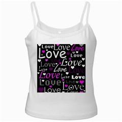 Valentine s day pattern - purple Ladies Camisoles