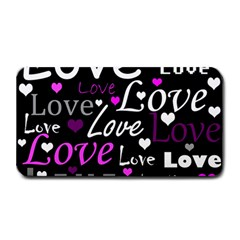 Valentine s day pattern - purple Medium Bar Mats