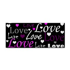 Valentine s day pattern - purple Cosmetic Storage Cases