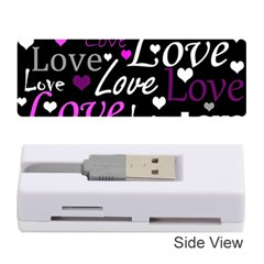 Valentine s day pattern - purple Memory Card Reader (Stick)