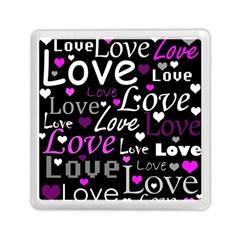 Valentine s day pattern - purple Memory Card Reader (Square)
