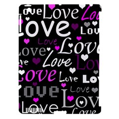 Valentine s day pattern - purple Apple iPad 3/4 Hardshell Case (Compatible with Smart Cover)