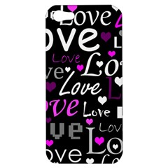 Valentine s day pattern - purple Apple iPhone 5 Hardshell Case