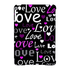 Valentine s day pattern - purple Apple iPad Mini Hardshell Case (Compatible with Smart Cover)