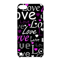Valentine s day pattern - purple Apple iPod Touch 5 Hardshell Case with Stand