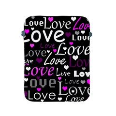Valentine s day pattern - purple Apple iPad 2/3/4 Protective Soft Cases