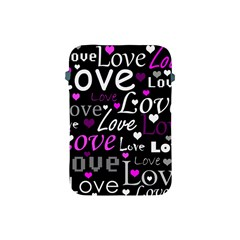 Valentine s day pattern - purple Apple iPad Mini Protective Soft Cases