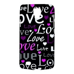 Valentine s day pattern - purple Galaxy S4 Active