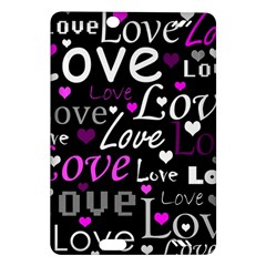 Valentine s day pattern - purple Amazon Kindle Fire HD (2013) Hardshell Case