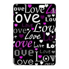 Valentine s day pattern - purple Kindle Fire HDX 8.9  Hardshell Case