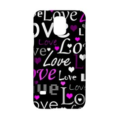 Valentine s day pattern - purple Samsung Galaxy S5 Hardshell Case