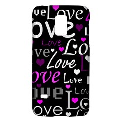 Valentine s day pattern - purple Galaxy S5 Mini
