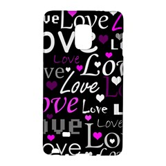 Valentine s day pattern - purple Galaxy Note Edge