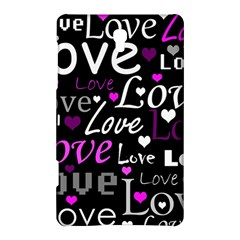Valentine s day pattern - purple Samsung Galaxy Tab S (8.4 ) Hardshell Case