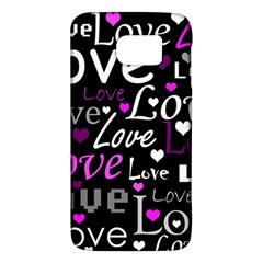 Valentine s day pattern - purple Galaxy S6