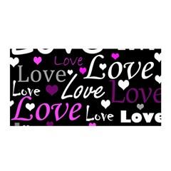 Valentine s Day Pattern   Purple Satin Wrap