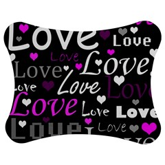 Valentine s day pattern - purple Jigsaw Puzzle Photo Stand (Bow)