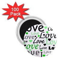 Green  Valentine s day pattern 1.75  Magnets (100 pack)