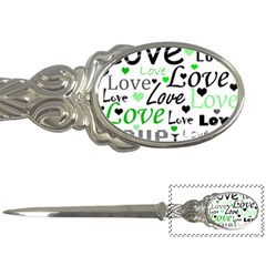 Green  Valentine s day pattern Letter Openers