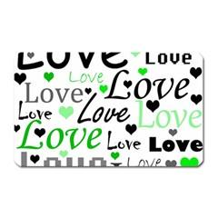 Green  Valentine s day pattern Magnet (Rectangular)