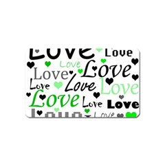 Green  Valentine s day pattern Magnet (Name Card)